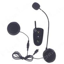 Envío gratis! 1 unids 100 M 3 jinetes de la motocicleta del casco de Bluetooth manos libres Bluetooth Intercom con música FM GPS