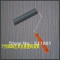 7 ''padrão de Casca de pintura rolo de pressão FRETE grátis 180mm ferramentas Diatomácea ooze canta padrão de bateria casca de plástico liso ferramentas de estilo tool dates tools planer drum electronic -