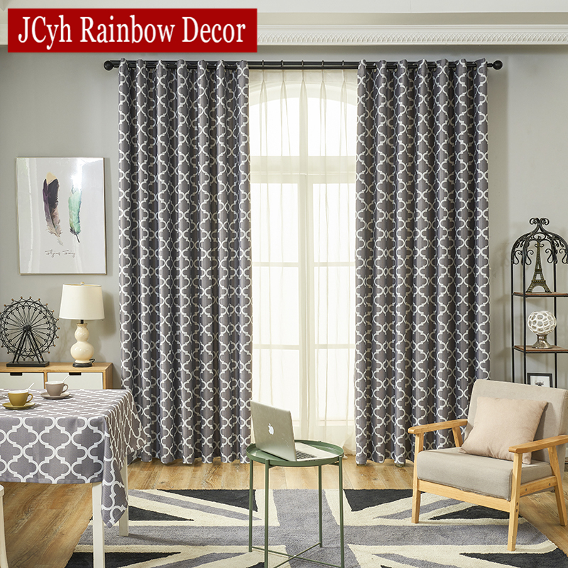 US $8.17 40% OFF|Gray Blackout Curtains For Bedroom Window Curtains Living  Room Ready Made Cortinas Blinds Drapes Tende Rideaux Vliegengordijn-in ...
