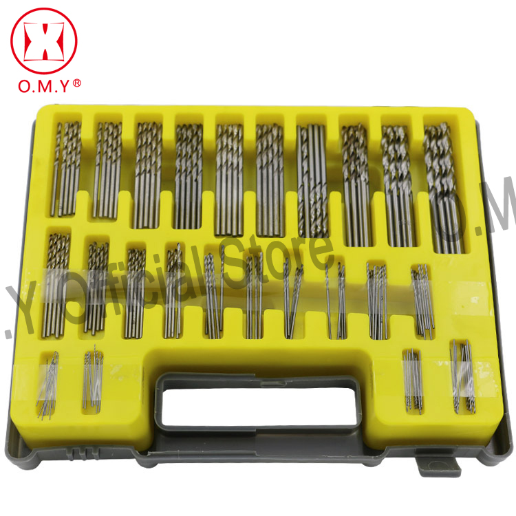 OMY 0.4mm-3.2mm 150Pcs Mini twist drill Bit Kit HSS Micro Precision Twist Drill with Carry Case for Crafts Jewelry Drilling Tool free shipping of 1pc hss 6542 made cnc full grinded hss taper shank twist drill bit 11 175mm for steel