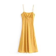 09f4d7663 طويل فستان صيفي النساء الأصفر vestidos الشيفون عارضة حزب فساتين 2019 روبا  موهير الشاطئ اللباس الأنيق