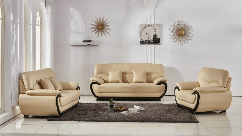 China Factory Cheap Price Living Room Furniture Modern With Genuine Leather Sofa Set 321 Group Sofa