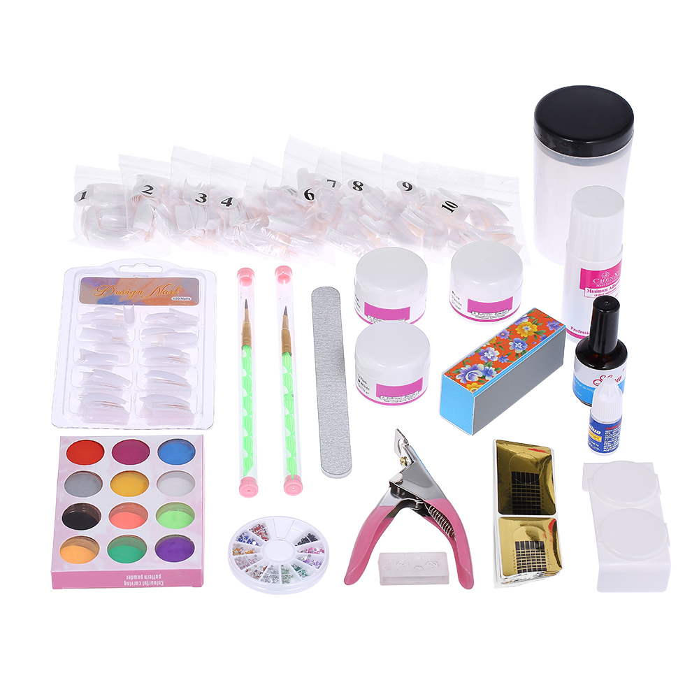 Professional Nail Clipper Pen Glue Acrylic Nail Liquid Powder File