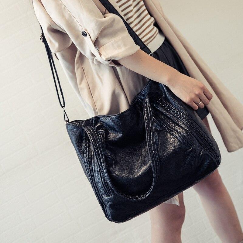 Crossbody Bags For Women Leather Handbags 2018 Fashion Women Messenger Bags Shoulder Bag Female Big Bucket Bag Designer WYQ177 7