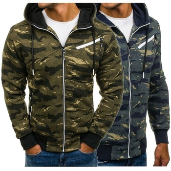 ZOGAA Autumn Mens Military Camouflage Jacket Army Tactical Clothing Male Windbreaker Zipper Polyester Men Hoodie Jacket Coat