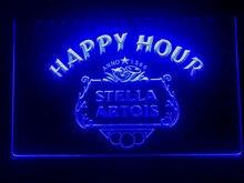 616 stella artois cerveja happy hour barra led sinal de luz de néon