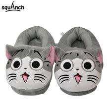 Kawaii Chi Cat Slippers 35-42 One Size Women Girls Anime Cartoon Shoes Carnival Party Winter Sneakers Couple Animal Kigurumi цена и фото