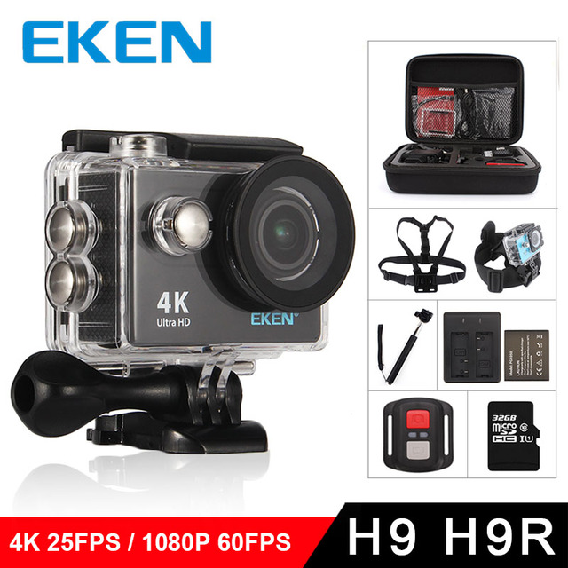 Original eken H9/H9R action camera 4K wifi Ultra HD 1080p/60fps 720P/120FPS pro waterproof mini cam bike video go sports camera