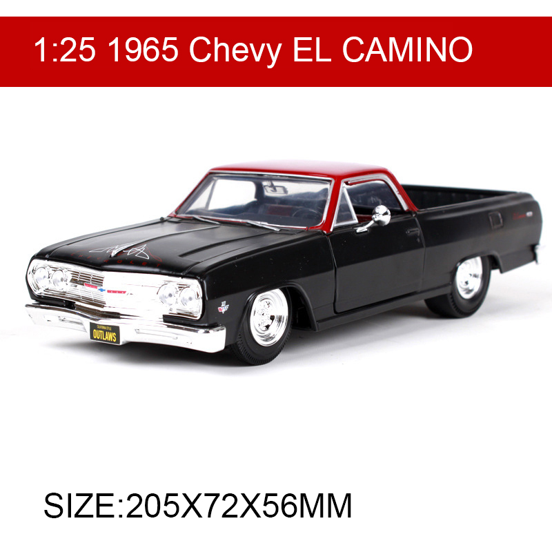 Maisto 1:25 1965 Chevy EL CAMINO Diecast Model Car Metal Racing Car Kids Toys Car simulation model For Gift Collection