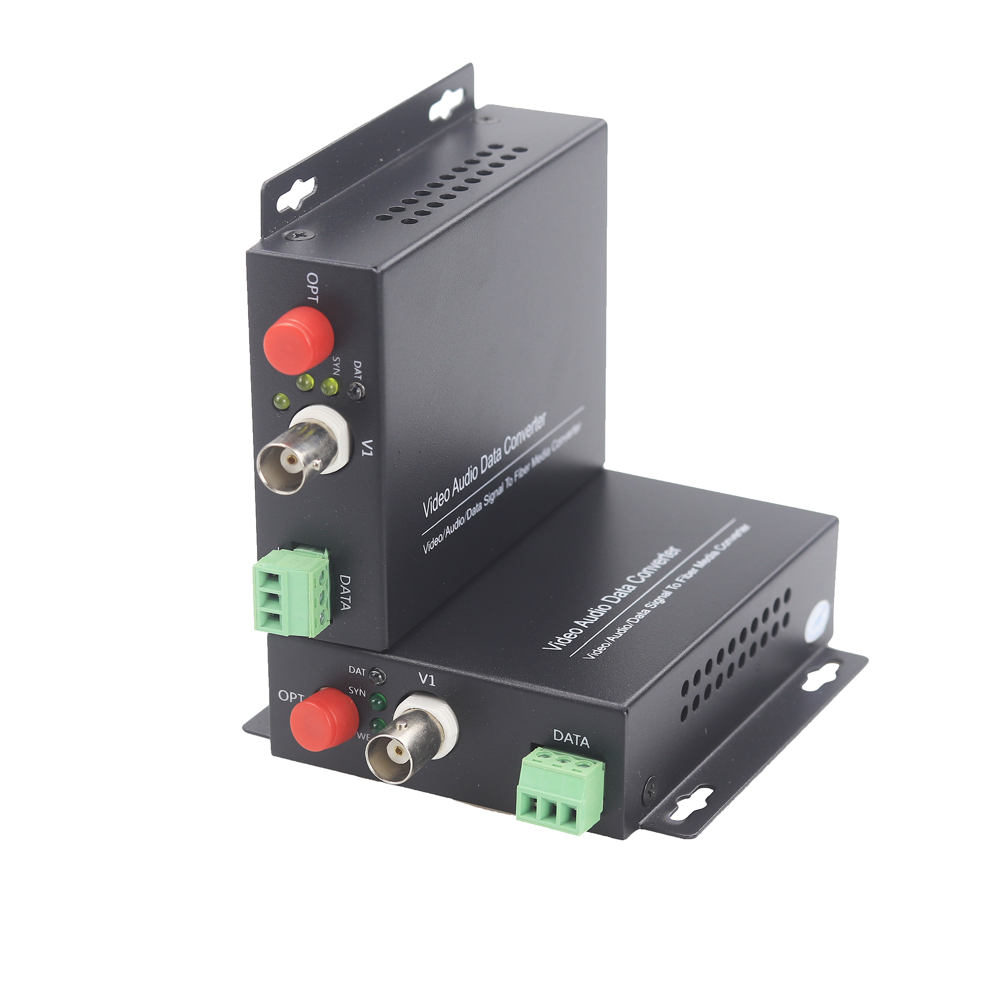 GZGMET 20Km 1 Channel Video Extender Single Mode Fiber Optic Media Converter Video RS485 Data EXTENDER