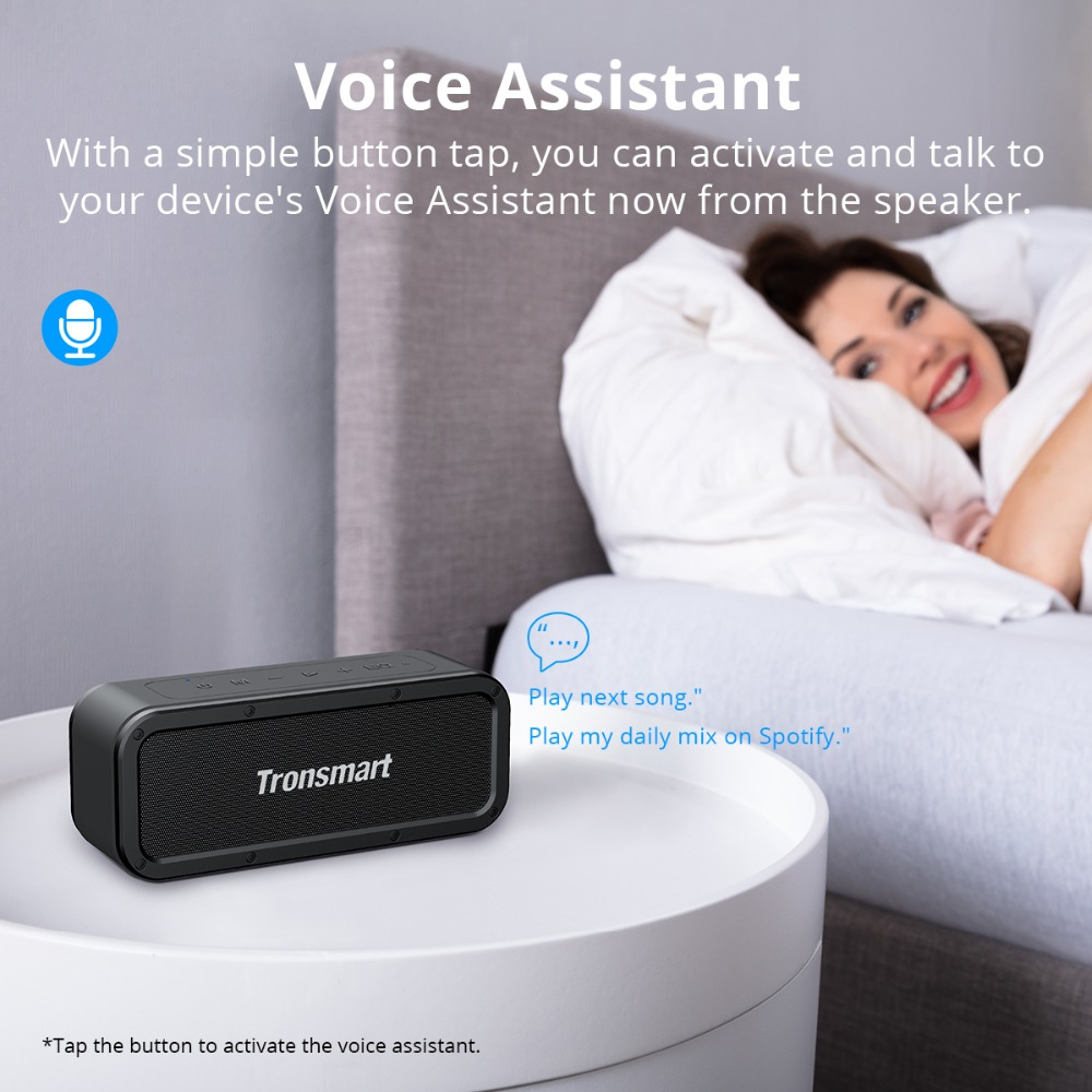 Tronsmart Force Bluetooth Speaker IPX7 Waterproof Bluetooth 5.0 Portable Speaker 40W Output Supports NFC,TWS,Voice Assistant (1)