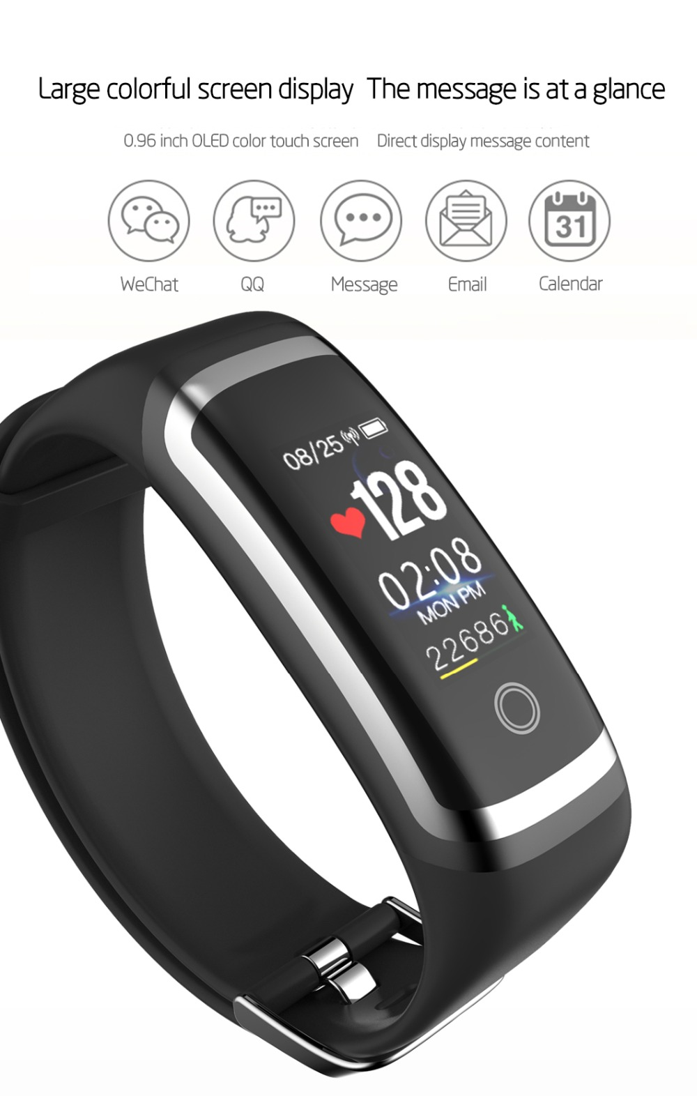 Smart Sleep Monitor Bluetooth Smart Wristband 7