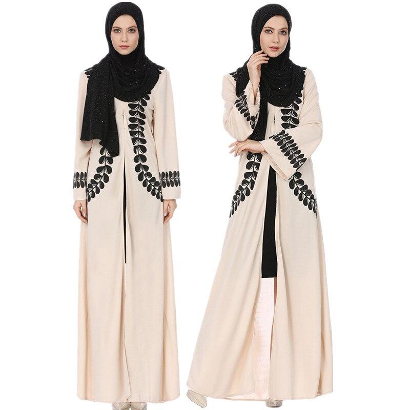 Robe musulmane Dubai Caftan pour femmes à manches longues robe longue Abaya vêtements islamiques filles arabe Caftan Jalabiya
