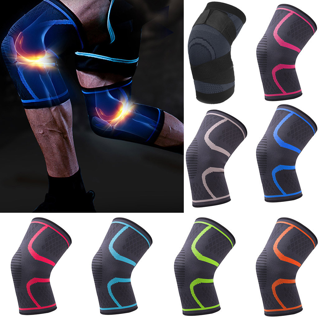 1PCS Fitness Running Cycling Knee Support Braces Elastic Nylon Sport Compression Knee Pad Sleeve For Basketball Volleyball#L20