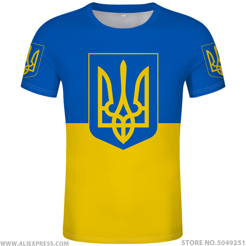 UKRAINE T Shirt Diy Free Custom Made Name Number Ukr T-Shirt Nation Flag Ukrainian Country Ukrayina Photo Logo Print 3D Clothing