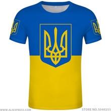 Ukraina t shirt diy za darmo na zamówienie nazwa numer ukr koszulka flaga narodowa ukraiński kraj ukrayina zdjęcie nadruk logo 3D odzież
