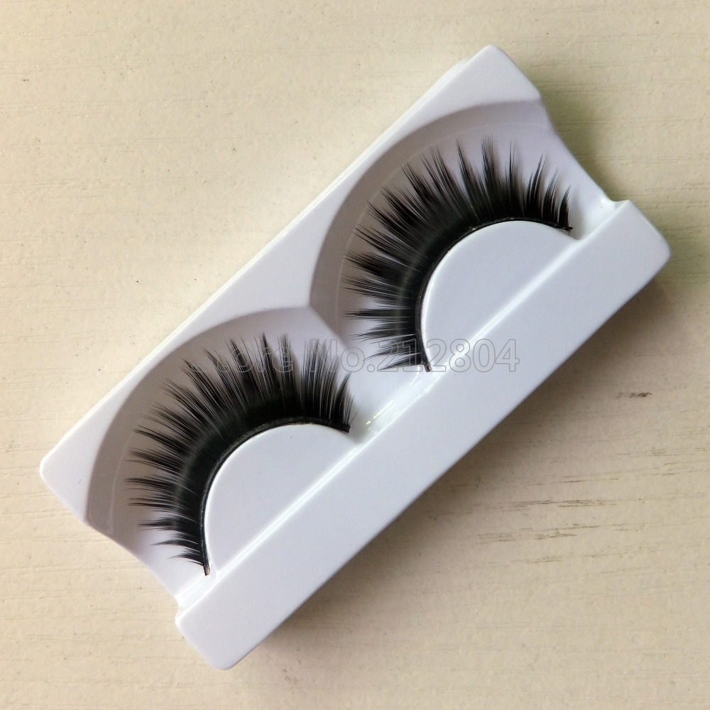 Hot Sale 1 Pairs Of Women Ladies Makeup Thick False Eyelashes Eye Lashes Long Black Natural Handmade Makeup Beauty Tools
