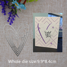 2019 New Arrival  Lovely Heart Frame Cutting Dies Stencil DIY Scrapbook Embossing Decorative Paper Card Craft Template 99x84mm 2019 new arrival lovely circle grass cutting dies stencil diy scrapbook embossing decorative paper card craft template 89x83mm