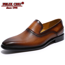 Italian Style Men Dress Shoes Leather Breathable Comfortable dress shoes leather Loafers Party Wedding