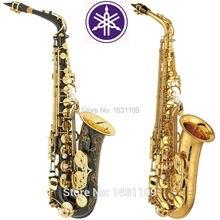Promociones Nueva Marca de Alta Calidad Saxofón alto 875 Negro Oro Profesional E Saxo boquilla Con Caja y Accesorios
