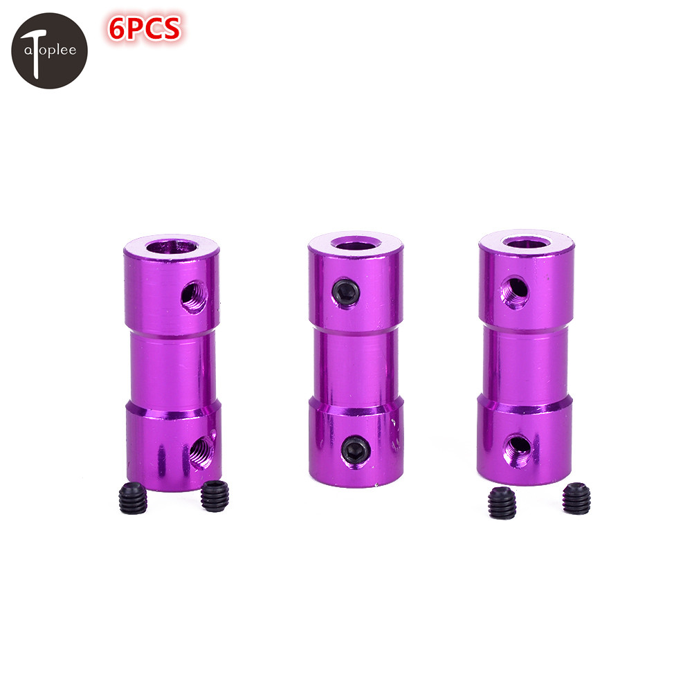 6PCS 2.3x4mm 3.17x4mm 4x5mm Coupler Aluminum Alloy Driving  Flexible Shaft Coupling Coupler Motor Connector Tool