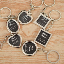 energyli Alloy Insert Photo Frame Keyring Keychain Fob Lovers Logo Picture Frame Home Decor for Girlfriend Christmas Gifts(China)