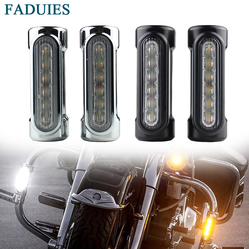 FADUIES LED Highway Bar Switchback Driving Light For Harley Davidson Touring Victory Motorcycle Driving light/turn signal light