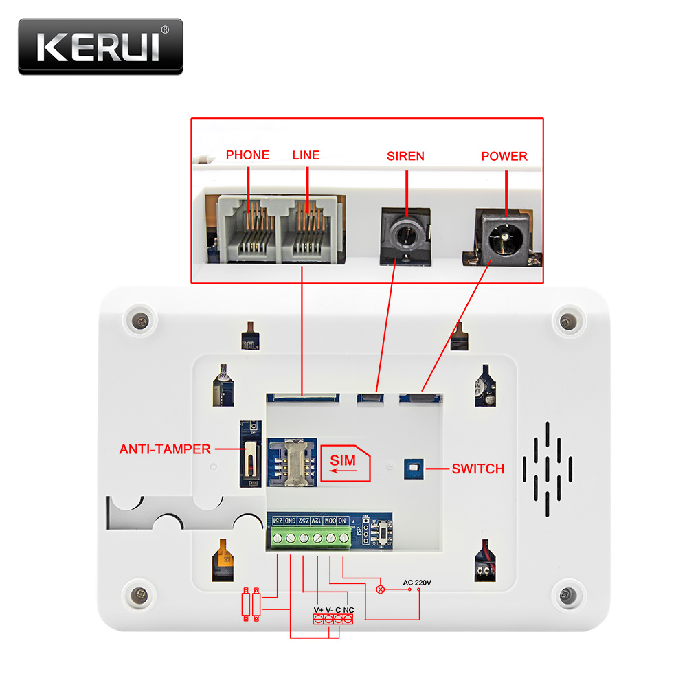KERUI 8218G White Black Alarm Control Center Panel Android IOS APP control GSM PSTN Home Burglar Security Alarm System