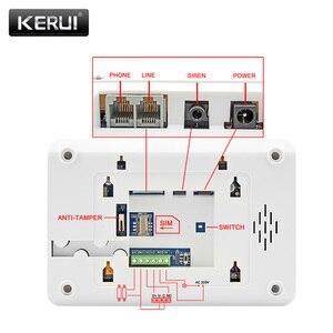 Image 4 - Pannello di Controllo di Allarme KERUI 8218G Bianco Nero IOS Android APP controllo GSM PSTN Antifurto Casa Sistema di Allarme di Sicurezza