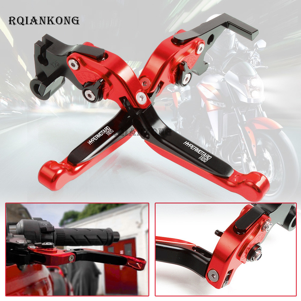 CNC Aluminum Motorcycle Adjustable Extendable Brake Clutch Levers For Ducati HYPERMOTARD 1100 2007 2012 Moto lever Accessories-in Levers, Ropes & Cables from Automobiles & Motorcycles    1