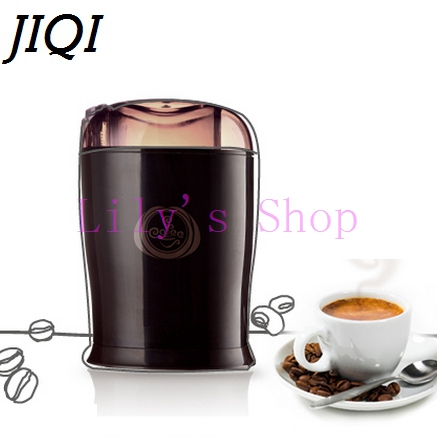 JIQI Household electric Chinese medicine coffee grinders herbs bean MINI grain shredder mill grinding powder machine pulverizer 500g top class he shou wu wild polygonum multiflorum root dried black bean chinese knotweed heshouwu herbs wholesale freeshipp