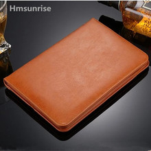 Hmsunrise Ultra Thin Folio leather case For apple ipad 9.7 2018 Flip Stand Cover for A1893 Auto Wake Sleep Full Protection