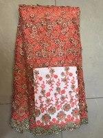 Último cordón de encaje Francés de alta calidad 3D applique de la flor de melocotón tela del cordón para nupcial blanco con cuentas de encaje de tela para el vestido TS