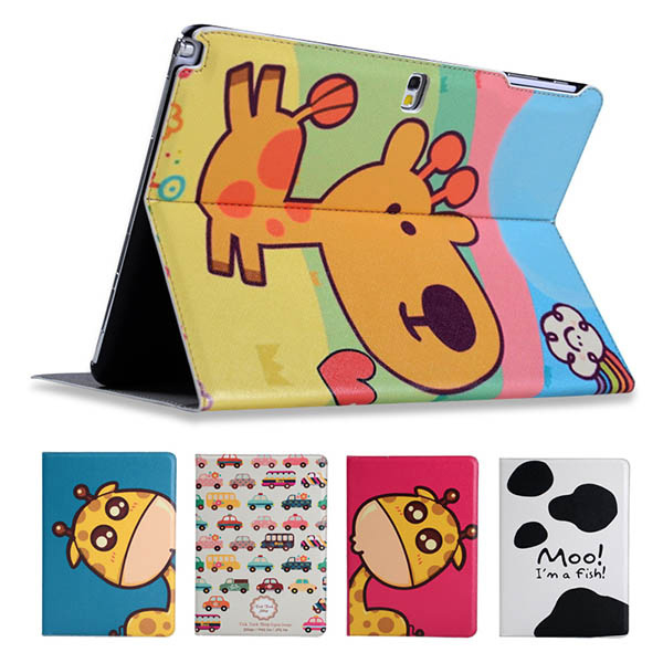 Fashion painted Pu leather stand holder Cover Case For Samsung Galaxy Note 2014 Edition P600 P601 T520 10.1 inch Tablet +Gift 2 folding luxury folio stand holder leather case protective cover for samsung galaxy note pro 12 2 p900 p901 p905 12 2 tablet