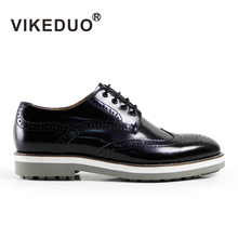 Newest Retro handmade italy mens Derby Shoes luxury party dress shoes 100% Genuine leather