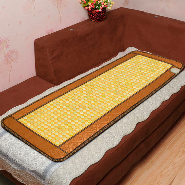 Hot Sale Korea Natural Jade Mattress Jade Mattress Far Infrared Health Care Mattress Heated Therapy Cushion 0.5X1.5M For Sale 645nm handheld digital scanner far infrared breast cancer lobular hyperplasia detection analyzer women private part care sale