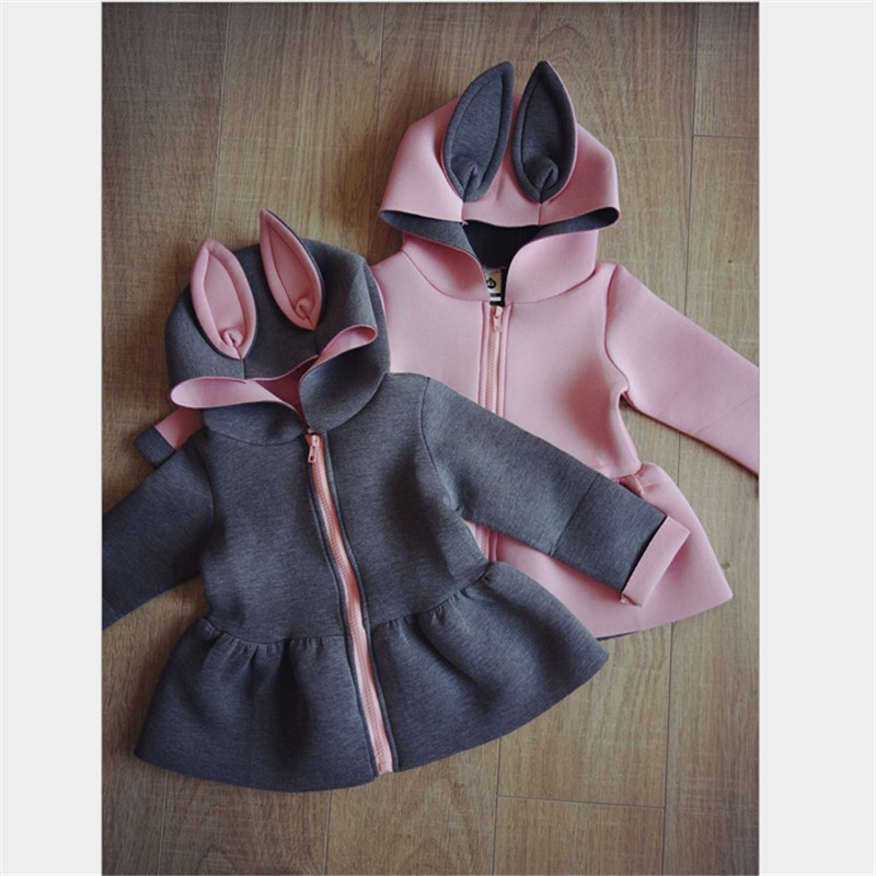 1 7T Toddler girls jacket animal rabbit design cotton spring ...