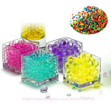 100 pcs Pearl Shaped Crystal Soil Water Beads Mud Grow Magic Jelly Balls Home Decor Aqua Soil Wholesales hydrogel