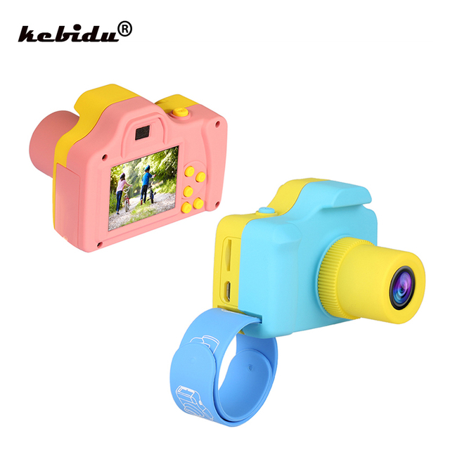 kebidu 1.77 Inch 16MP 1080P Mini LSR Cam Digital Camera for Kids Baby Cute Cartoon Toy Camera Children Birthday Best Gift