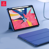 Xundd Protective Cover for iPad Pro 12.9 2018 Anti Drop Smart Magnetic Pencil with Pen Holder TPU Silicone Sell Leather Case