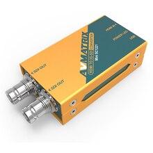מתאם מאריך מיני HDMI לממיר SDI 3 גרם AVMATRIX SDI HD SDI לנהיגה צגים עם מתאם מתח