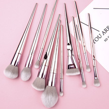 BANXEER 10pcs Brushes for Makeup 100% Natural Animal Horse P