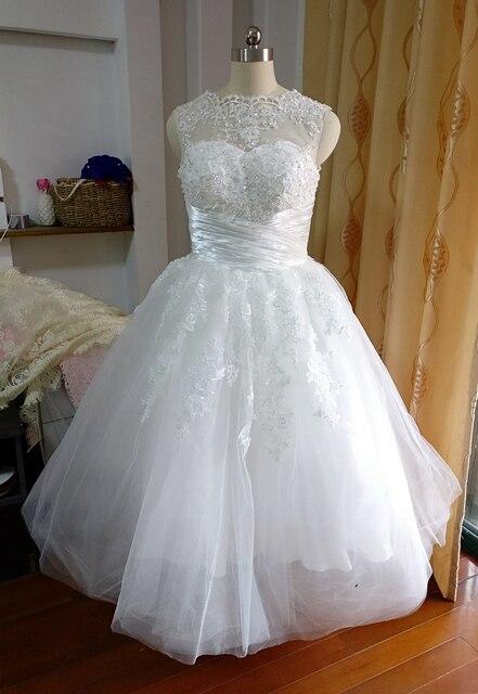 Trouwjurk thee lengte tank kant trouwjurk robe de mariee abiye korte jurk  vestido de festa pageant 8fdd5b38b6c0