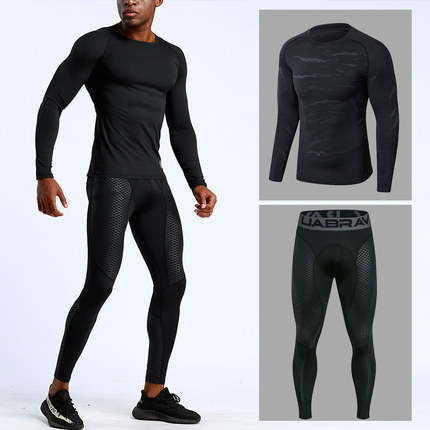 Sports Wear Compression Training Pants Men Running Fitness Sets Tights Gym Clothes Basketball Jacket Leggings Deportes Tights
