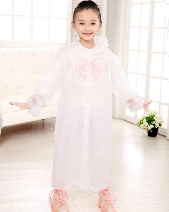 da0527f17 Age 6~12 Kids Hooded student transparent Jacket children Girl Rain ...