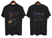 Prince Purple Rain T Shirt Men Two Sides Music Legend Short Sleeve Casual Printed Tee US