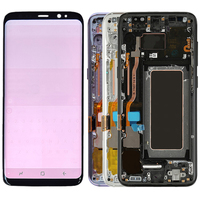 Original Super AMOLED S8 Plus LCD With Frame For Samsung Galaxy S8 G950F S8 Plus G955F Display Touch Screen Red Burn Shadows
