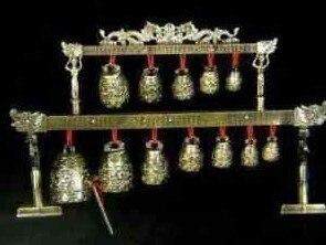 Tibet silver bell Archaic Handwork Decorative big Brass bells Chinese dragon glockensp Decoration real Tibetan Silver Brass
