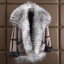 ZiZhen New Winter Women's Double-Faced Fur Real Lamb Fur Coats Jacket The Coat For Female 181108-3