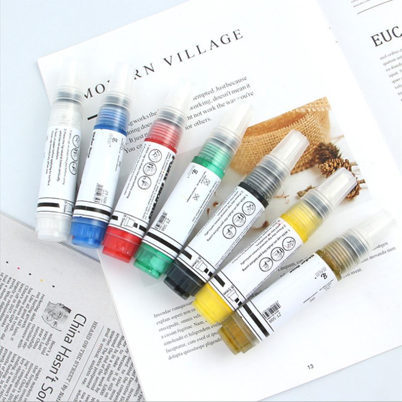 12color Acrylic Marker Slanted Head 8.5MM Waterborne Student Painting Color Street Art Graffiti Marker